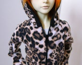 60cm / SD13 BJD Leopard Print Hoodie