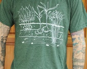 Vegetable Garden - Cotton Poly Mens/Unisex T Shirt - Hand Screen Printed - As seen on the WB's izombie
