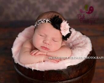 Baby Headband - Newborn Headbands - Infant headband - Baby Hair Accessories - Couture Baby Girl Headband - headband baby - Shabby Chic bows