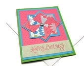 Colorful Birthday Card - Pinwheel Birthday Card - Happy Birthday Greeting Card - Stampin' Up Birthday Card - Cards For Her
