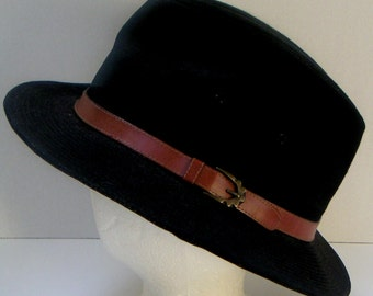 Vintage Suede Hat by Seifter Associates Inc. Fedora.