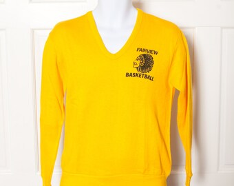 Old School Athletic Sweater - FAIRVIEW BASKETBALL - chief - Medium