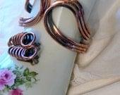 Renior copper clip earrings and bracelet
