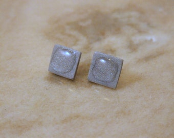 Polymer Clay Post Silver Earrings