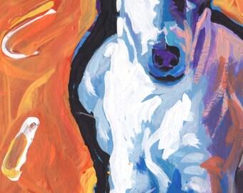 Smooth Fox Terrier art print of modern Dog pop art painting bright colors 6x10