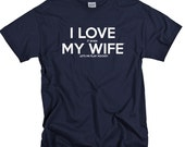 Hockey Gifts for Dad or Husband - Ice Hockey Shirts for Men I LOVE it when MY Wife ® Lets Me Play Hockey