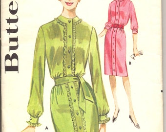 Vintage 1960's Teen Dress Pattern, Butterick 2402 Sewing Pattern, Size 10