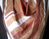 100% Silk Scarf in 70s Autumn Tones