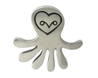 Sea Creature Owl Necklace - Owl Pendant - Octopus Pendant