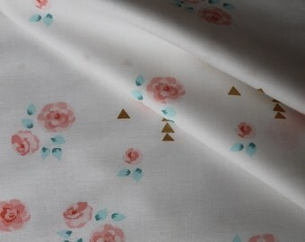 Brambleberry Ridge Rosemilk White Sorbet Michael Miller Fabric - 1/2 yard