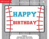 Baseball Party Sign - Editable Text Printable Template - Instant Download - Baseball Birthday - Baseball Sign - Baseball Birthday Party