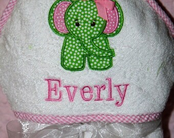 Ellie the Elephant Baby and Toddler Hooded Towel