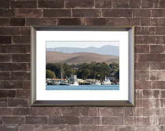 HARBOR Photograph - MORRO BAY California - Coastal Ocean Landscape Picture