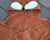 Fox or Bear Towel with Hood Thicker and Heavier for Beach, Pool, or Bath