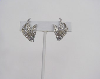 Vintage Sarah Cov Rhinestone Earrings