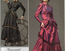 Steampunk  Blouse Bustle And Skirt Plus Size 14 16 18 20 Arkivestry Haute Couture Goth Sewing Pattern 2011 Simplicity 2207