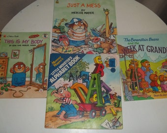 Children's Books,4 Pc Children's Books,Mercer Mayer Books, Berenstain Bears Books, 4 pc Collection kids books
