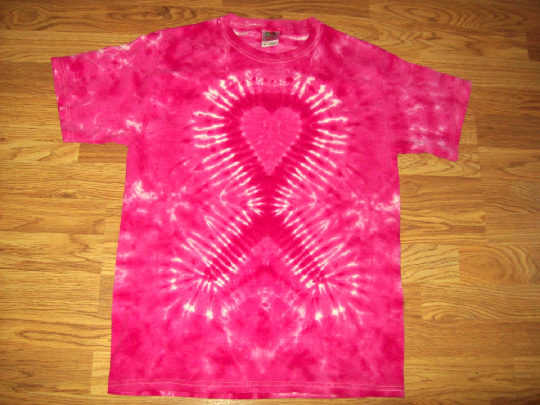 ribbon tie dye breast cancer tie dye by ejsgroovytuesdays