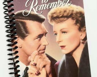 AN AFFAIR to REMEMBER Vhs tape journal notebook Recycled Upcycled Spiral Bound