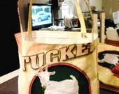 Tote made from Goat Feed Bag