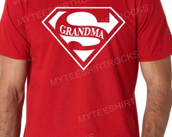 Super Grandma Unisex T-Shirt TShirt for Grandmom, Gifts for her, New Grandma, Grandmom TShirt, New Grandparents, Gifts for Grandma