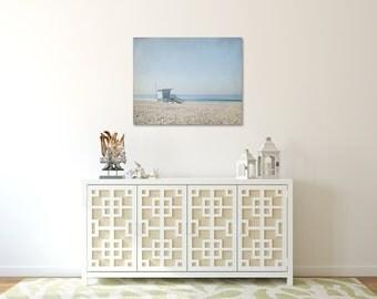 Lifeguard Tower Picture, Beach Canvas, California Wall Art, Venice Beach Canvas, Large Photography Canvas, Blue Wall Decor