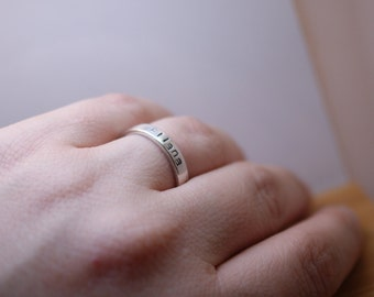 sterling silver personalized ring - name ring - posey ring - silver ring - personalized ring - purity ring - sterling silver ring
