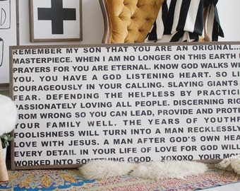 A Prayer for my Son - Wood Sign