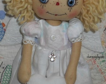 E Pattern  11 inch Angel Annie Raggedy Ann cloth doll