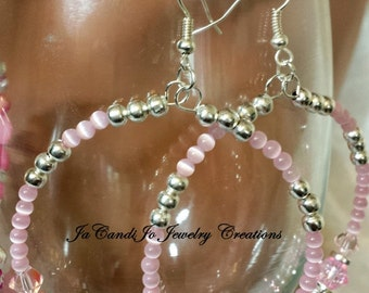 PINK Awareness 2.4' Candi Hoops