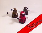"PDF Pattern for Crocheted Dalek from Doctor Who Kawaii Keychain Miniature Doll ""Pod People"""