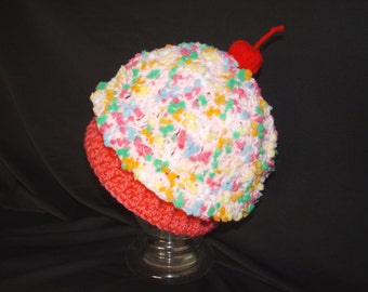Baby hat infant cupcake beanie baby shower gift