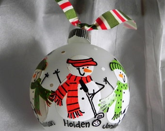 Special Customization for your Snowman Ornament