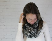 Crochet chunky scarf, infinity scarf, crochet scarf, color block crochet infinity, two tone cowl, crochet cowl, oversized cowl