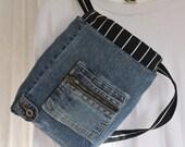 Small Backpack Designer Denim Backpack Upcycled Backpack Jeans Backpack