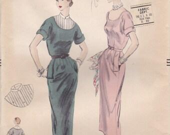 1950s Summer Dress Pattern Vogue 7856 Size 14