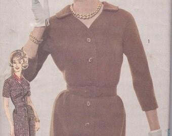 1960s Button Front Dress Pattern Advance 3044 Size 14 Uncut