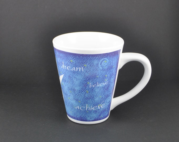 """Vintage Mary Kay Cup 30th Anniversary """"Dream Believe Achieve"""" 1990s"""