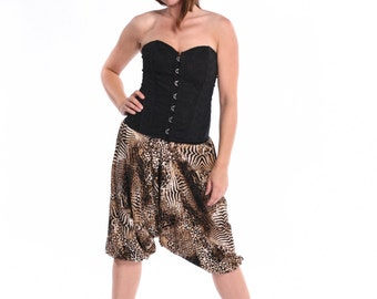 Short afgani pants for tango - animal print
