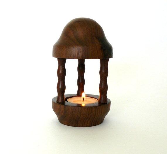 Miniature Walnut Tea Light Lantern Wooden Tealight Holder Wood Turned Mini  Lantern Candle Holder Wood Decor