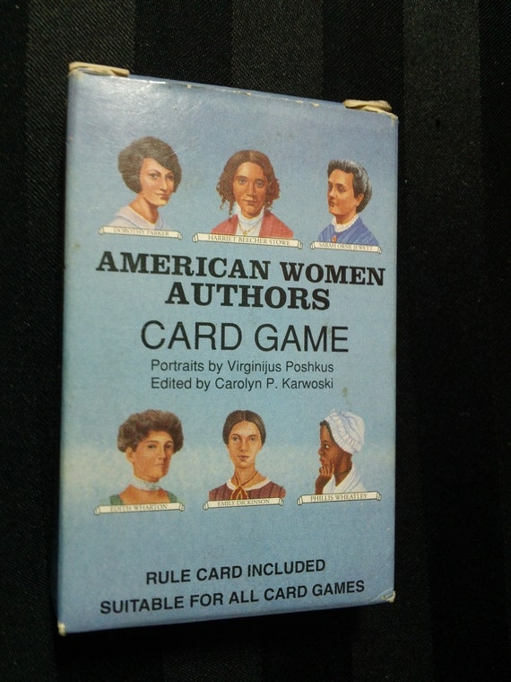 Vintage 1995 American Women Authors Playing Cards & Educational Card Game by U.S. Game Systems