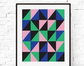 Wall Art - Geometric Art Print - Modern Abstract Minimalist Art Print - Kids Decor - Home Decor