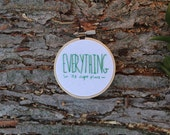 Everything Embroidery Hoop Art - 3 in
