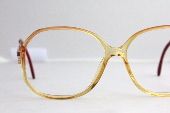 Eyeglass Frames German : Vintage German Sunset Oversized Eyeglass Frames by Sorocco ...