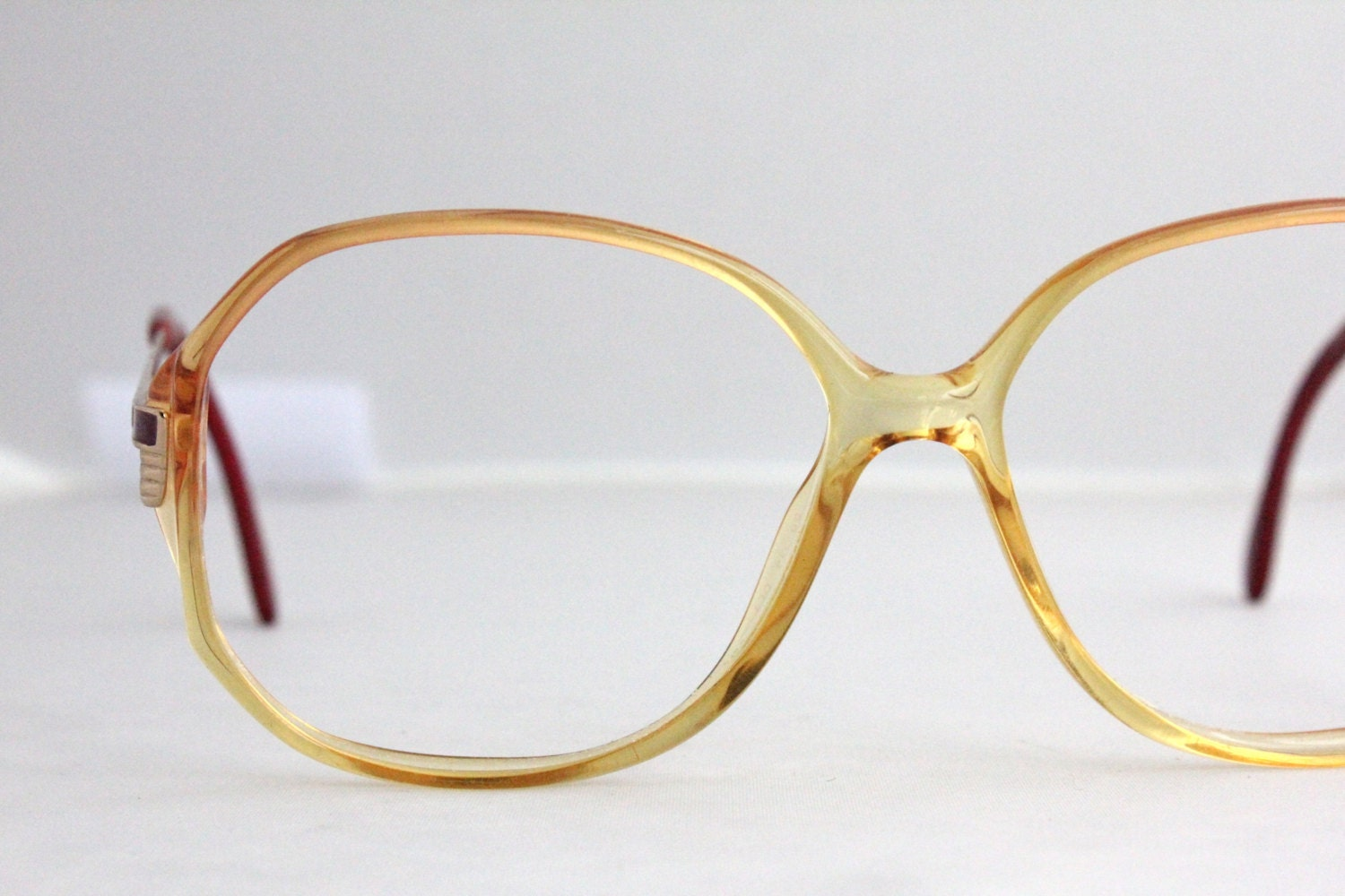 Eyeglass Frame In German Language : Vintage German Sunset Oversized Eyeglass Frames by Sorocco ...