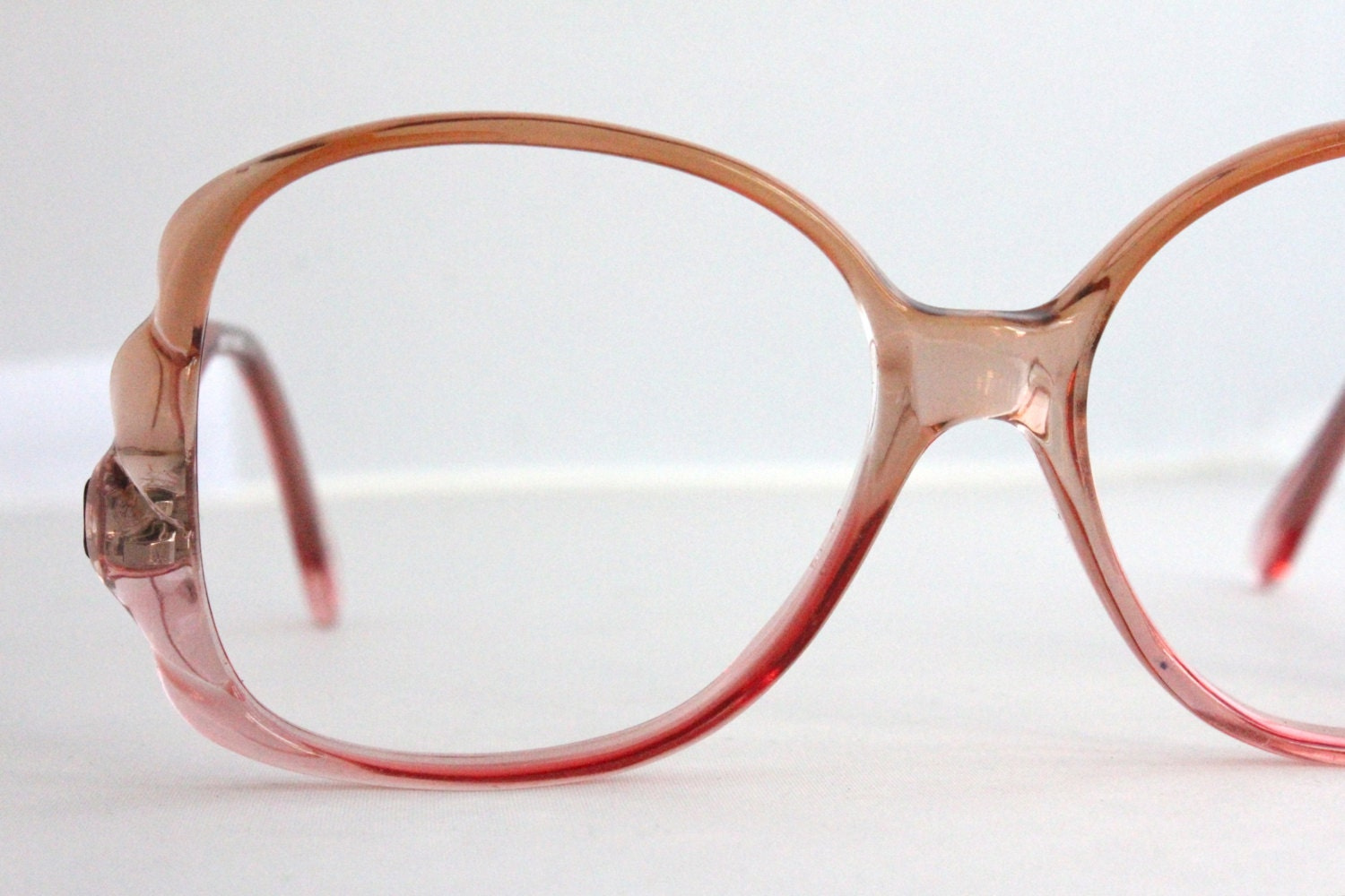 Glasses Frames With Removable Arms : Vintage Oversized Watermelon Drop Arm Eyeglasses Frames