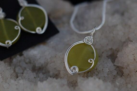 Olive Green Serpentine Gemstone Penda