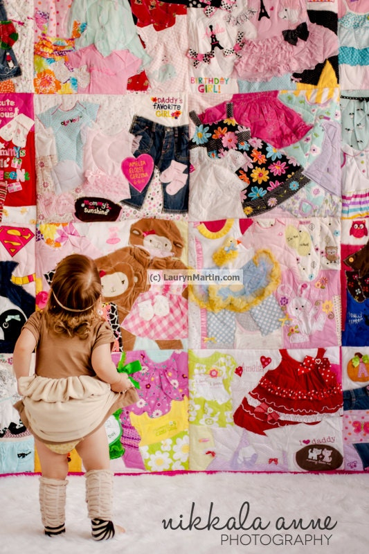 Deposit Listing Memory Quilt Baby Clothes Quilt Memory