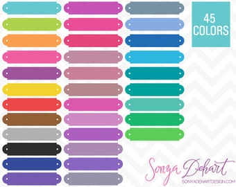 80% OFF Sale Clipart Name Plate Book Plates Labels 45 Colors Commercial Use