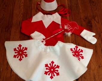 Little Girl Elf Costume Set